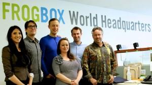 FROGBOX world headquarters team with Brett Wilson
