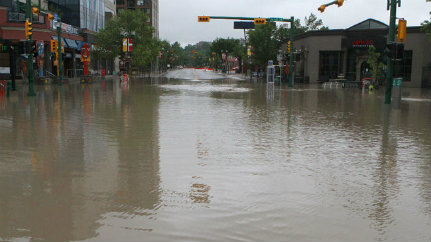 Calgary, AB during summer of 2013 floods